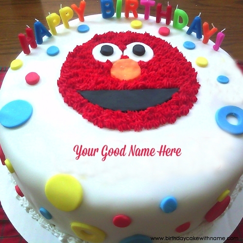 Angry Bird Birthday Cake For Children With Name