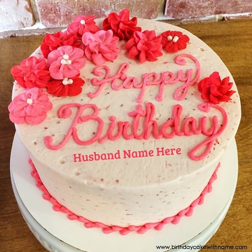 Fabulous Write Husband Or Hubby Name On Birthday Wishes Cake Pics Birthday Cards Printable Trancafe Filternl