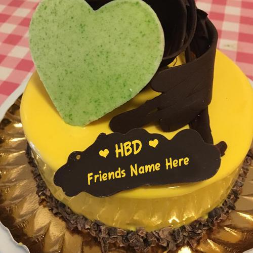 Write Friend's Name On Birthday Cake