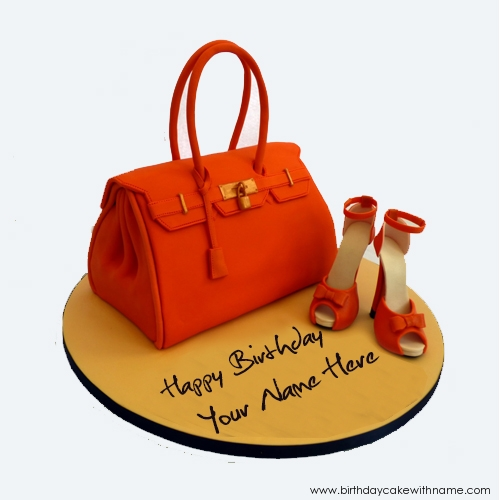 Fashion Girl Birthday Wishes Cake Image With Name