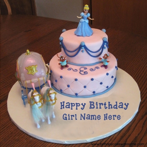 Party Cake Image Edit With Girl Name