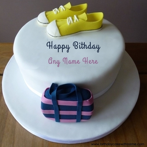 Girl Name Write In Shoes Birthday Cake Pictures