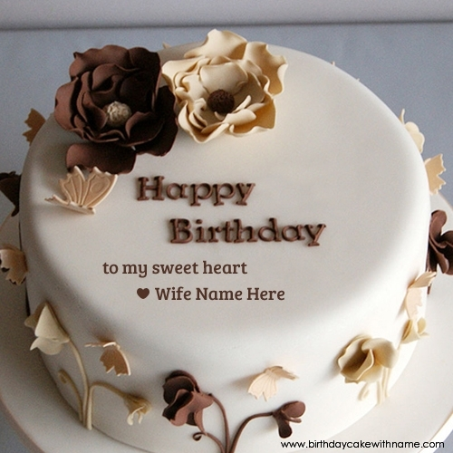 Chocolate Rose Birthday Cake For Sweet Heart Wife
