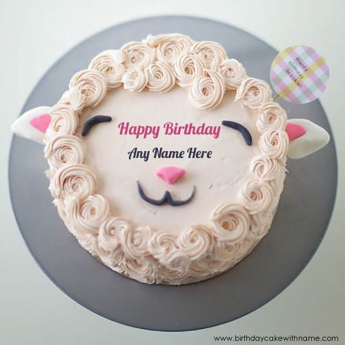 Write Kids Name On Funny Face Birthday Cake