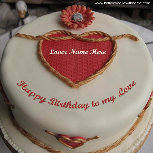 Incredible Write Name On Happy Birthday To My Love Cake Pics Personalised Birthday Cards Veneteletsinfo