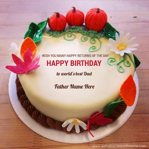Happy Birthday To World's Best Daddy Name Cake