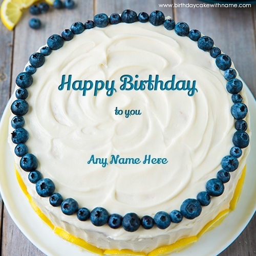 Round Lemon Birthday Cake