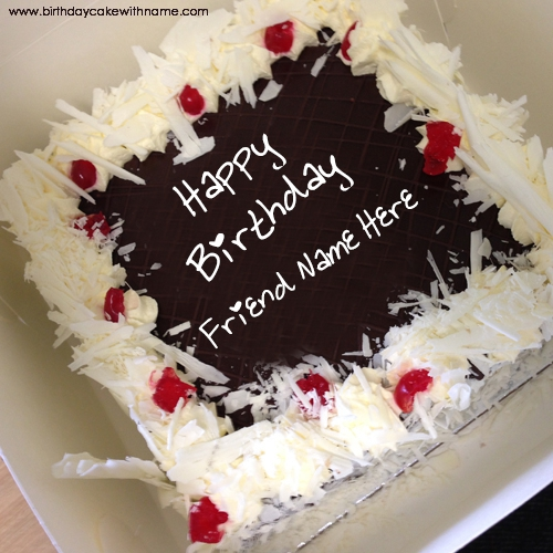 Remarkable Big Chocolate Cake Pictures With Friend Name Edit Personalised Birthday Cards Veneteletsinfo